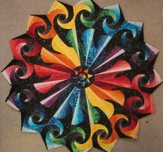 spiral quilt by Abby Josias Van Buskirk, part of the 24 Blocks quilting group on Facebook