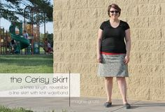 Skirt Week Guest Tutorial: Imagine Gnats - the Cerisy A-line Skirt - it's reversible!