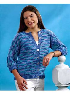 Ocean Cardigan - Free #crochet pattern in women's sizes small (medium and large).
