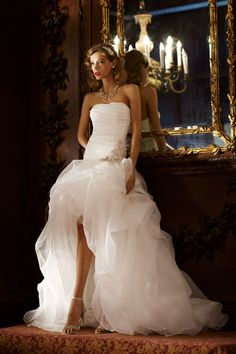 Galina Signature by davidsbridal via bridalguide:  One of the biggest sellers in LA. http://online.wsj.com/article/SB10001424052702304707604577422222567639682.html  #Wedding_Gown #davidsbridal #Galina_Signature #LA #bridalguide