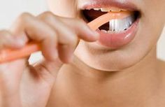 Whiten your teeth with baking soda and peroxide