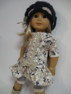 American Girl Doll Clothes Girlie GirlTaupe by 123MULBERRYSTREET, $32.00