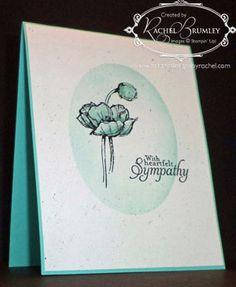 SU Simply Sketched sympathy card su sympathy cards, sympathi card, rachel stamp
