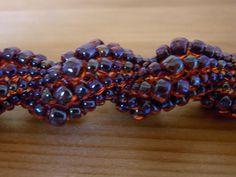 beadi stuff, opera necklac, beadwork, beadi inspir, bead herringbon, beads, jewelri patternsproject, spiral, beadi side