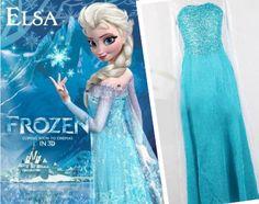 Frozen Elsa Costume, Frozen Elsa Cosplay Costume, Frozen Elsa Dress for Women