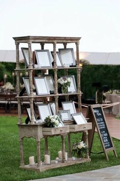 outdoor shabby chic wedding