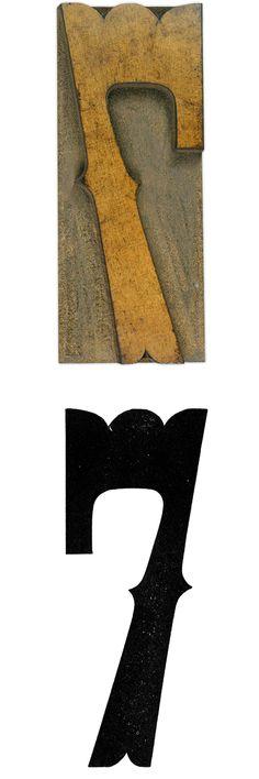 #typography #7 #seven #number #letterpress