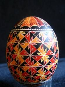 pysanky- I love these Ukranian eggs. Patricia Polacco, writes the best books about these unique egss.