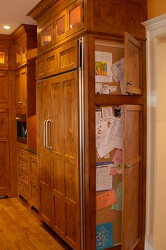 Kitchen organization-add on to end of cabinets for mail, keys, calendar