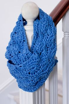 Infinity Scarf Crochet Pattern via Hopeful Honey
