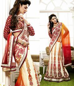 Mesmeric Multicolor Lehenga Style Saree