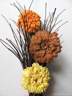 Flores de papel acuarela