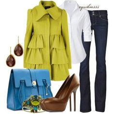 STEFFEN SCHRAUT White Valencia Fancy Blouse jacket, ruffl, color combos, blue, fashion outfits, white shirts, casual fridays, work outfits, coat