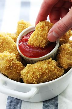 Quinoa Chicken Nugge