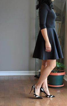 dvf diane von furstenberg jeannie dress  gianvito rossi black and white heels