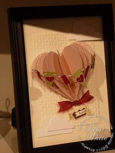 Heart Hot Air Balloon  Stampin' Up!