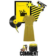 """""""Yellow and black"""" by ornellav on Polyvore"""