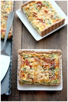 Asparagus Leeks Roasted Cherry Tomatoes Quiche