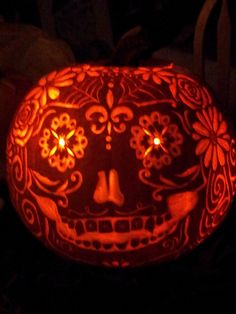 day of the dead pumpkin