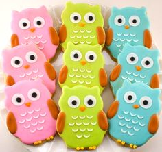 owl cookies <3 My oldest daughter would love these!