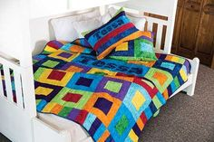 This bright quilt wi