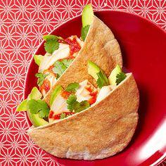 Turkey and Avocado Pitas for lunch #recipe