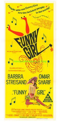 FUNNY GIRL MOVIE POSTER AUS. DB BARBRA STREISAND !!