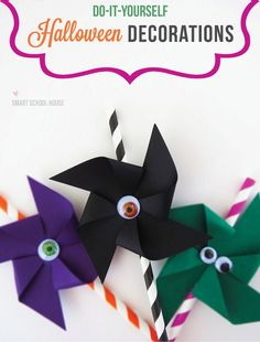 Eyeball pinwheels would be such fun to make at a Halloween party!