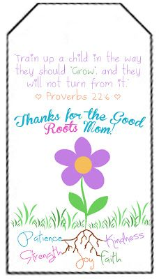 Tag for Mother's Day Craft - Sunday School Mothers Day Craft
