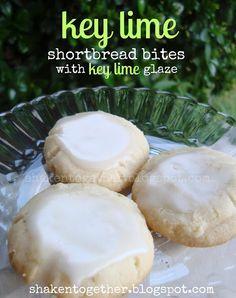 Key Lime Shortbread Bites with key lime glaze -