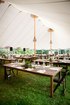 Sperry reception tents are perfect for #summerweddings | Brides.com