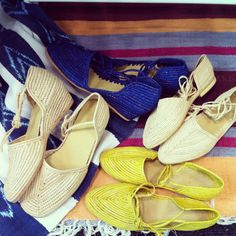 Raffia shoes from Morocco, heading to our shop this Spring:)