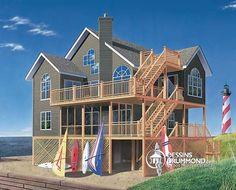 Plan de Maison unifamiliale W4943, dessinsdrummond drummonddesigns drummondhouseplans, house inspiration, home, maison, luxury, cottage, chalet, moutains, ocean, bord de mer