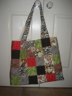 Patchwork Bags_e_0JZ6 - via @Craftsy