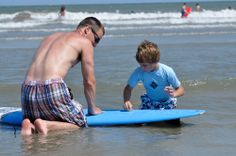 Surfing at Palmetto Dunes, Hilton Head