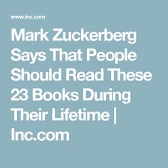 Mark Zuckerberg Says