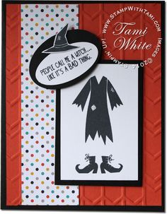 Stampin Up Tee-hee-hee Witches Halloween Card and video on blog