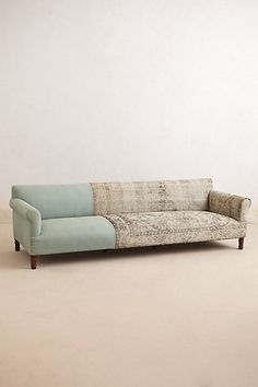 Knotted Linen Sofa   #anthropologie