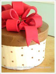 τουρτα κουτι - gift box cake