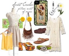 Saint Cecilia, patron saint of music, created by melloen on Polyvore