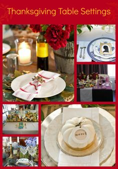Our Favorite Thanksgiving Table Setting Ideas>> http://www.hgtv.com/entertaining/our-favorite-thanksgiving-table-setting-ideas/pictures/index.html?soc=pinterest