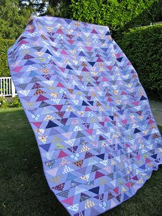Purple Flying Geese Quilt