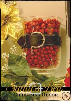 Santa's Belt...  A cute idea for Christmas decoration or centerpiece.