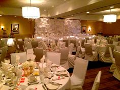Our Guild Hall in romantic wedding reception dress, Atlantica Hotel Halifax.