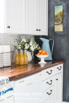 Butcher block counters - Miss Mustard Seed