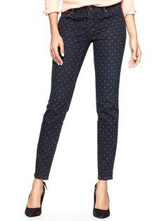 polka dot skinny jeans / gap