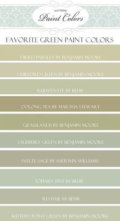 My Favorite Green Paint Colors - topiary tint