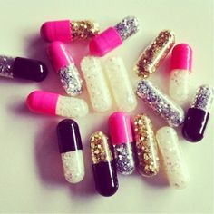 Glitter pills just in case of emergency!