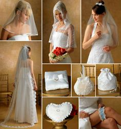BRIDAL Wedding Sewing Pattern  Bride's Veil Garter Purse Capelet & More!