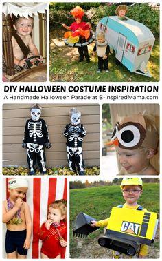 Hanmade Halloween Costumes Inspiration at B-InspiredMama.com #kids #costumes #halloween #kbn
